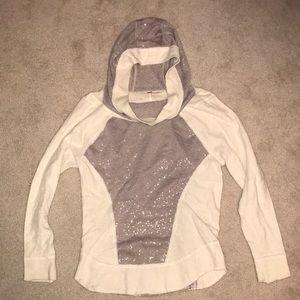Free People Hooded Lightweight Sweater